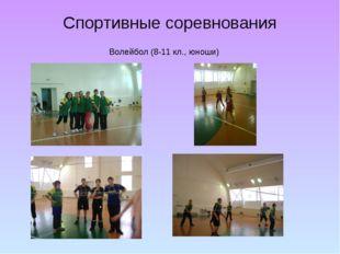 Спортивные соревнования Волейбол (8-11 кл., юноши)