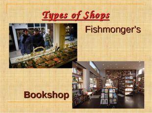 Types of Shops Fishmonger's Bookshop