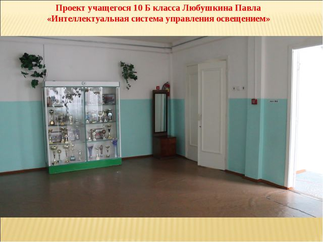 Проект учащегося 10 Б класса Любушкина Павла «Интеллектуальная система управл...