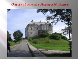 Олеський замок у Львівській області