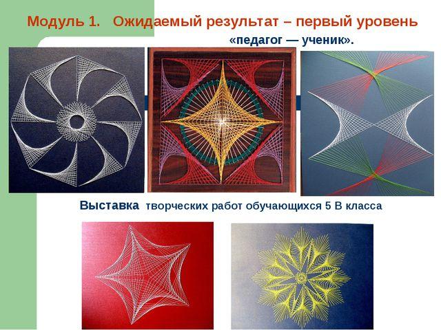 Выставка творческих работ обучающихся 5 В класса Модуль 1. Ожидаемый результ...