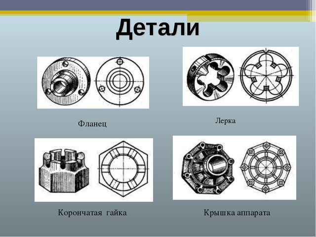 Детали Фланец Лерка Корончатая гайка Крышка аппарата