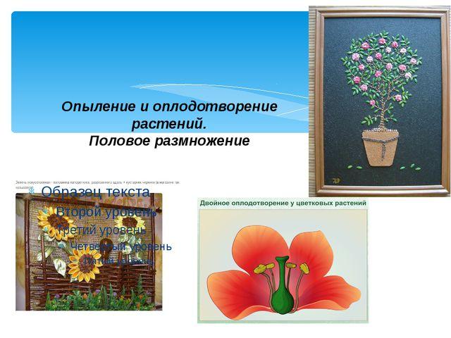 Опыление и оплодотворение растений. Половое размножение