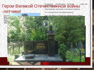 Герои Великой Отечественной войны -летчики! Михаил Петрович Девятаев –лётчик