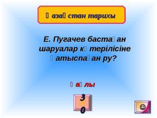 Қазақстан тарихы 30 Е. Пугачев бастаған шаруалар көтерілісіне қатыспаған ру?
