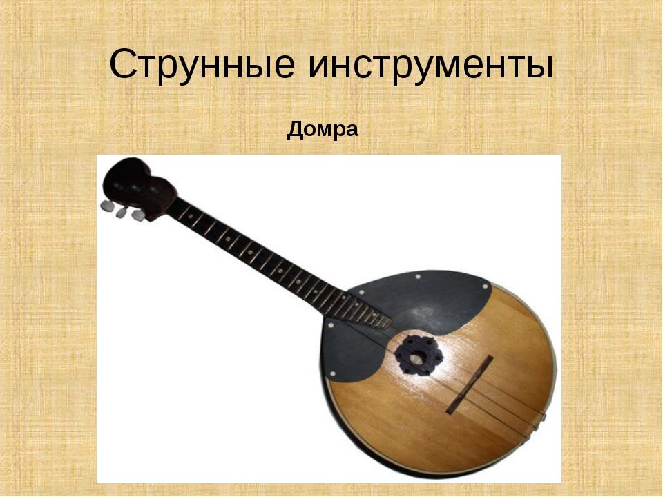 Струнные инструменты Домра
