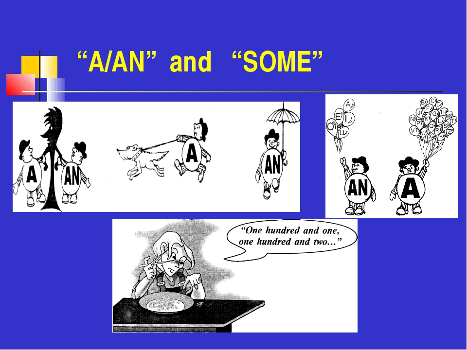 """""""A/AN"""" and """"SOME"""""""