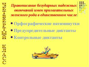 Орфографические пятиминутки Предупредительные диктанты Контрольные диктанты П