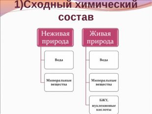 1)Сходный химический состав