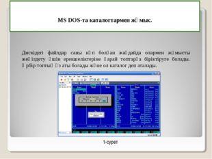 MS DOS-та каталогтармен жұмыс. Дискiдегi файлдар саны көп болған жағдайда ол