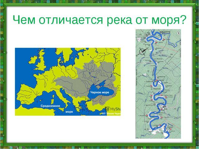 Чем отличается река от моря?