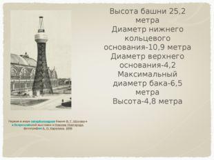 Первая в мире гиперболоидная башня В. Г. Шухова на Всероссийской выставке в Н