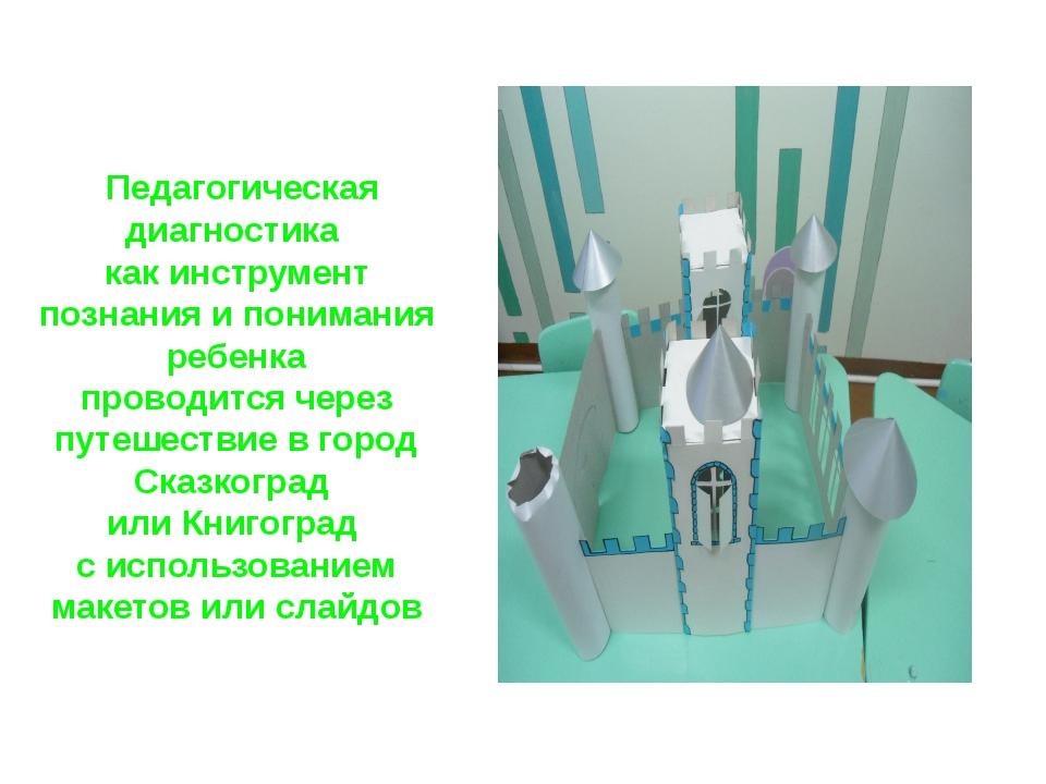 Педагогическая диагностика как инструмент познания и понимания ребенка прово...