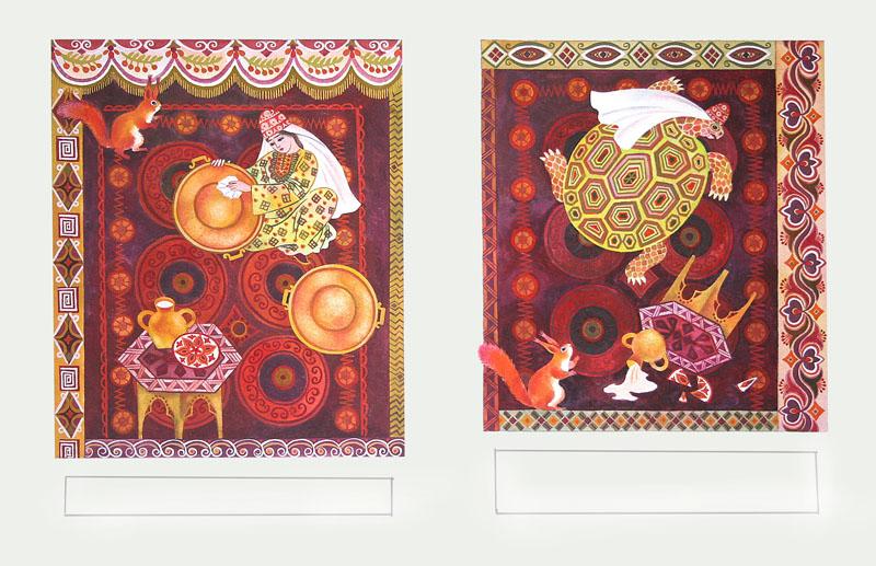 иллюстрации к татарской сказке три сестры победами которой всегда