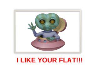 I LIKE YOUR FLAT!!!