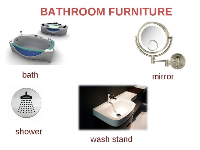 BATHROOM FURNITURE mirror shower bath wash stand