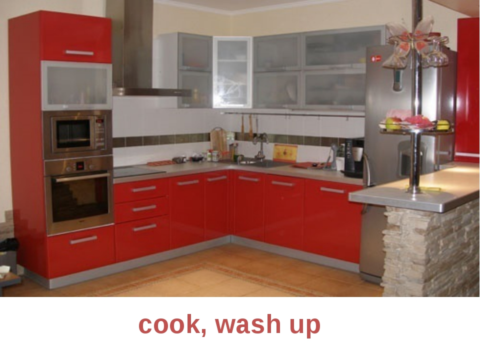 cook, wash up