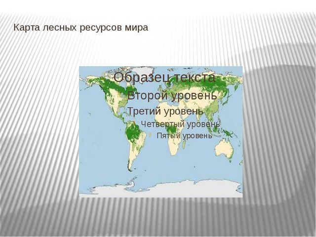 Карта лесных ресурсов мира