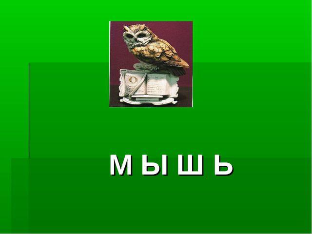 М Ы Ш Ь
