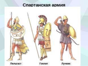 Спартанская армия Пельтаст Гоплит Лучник