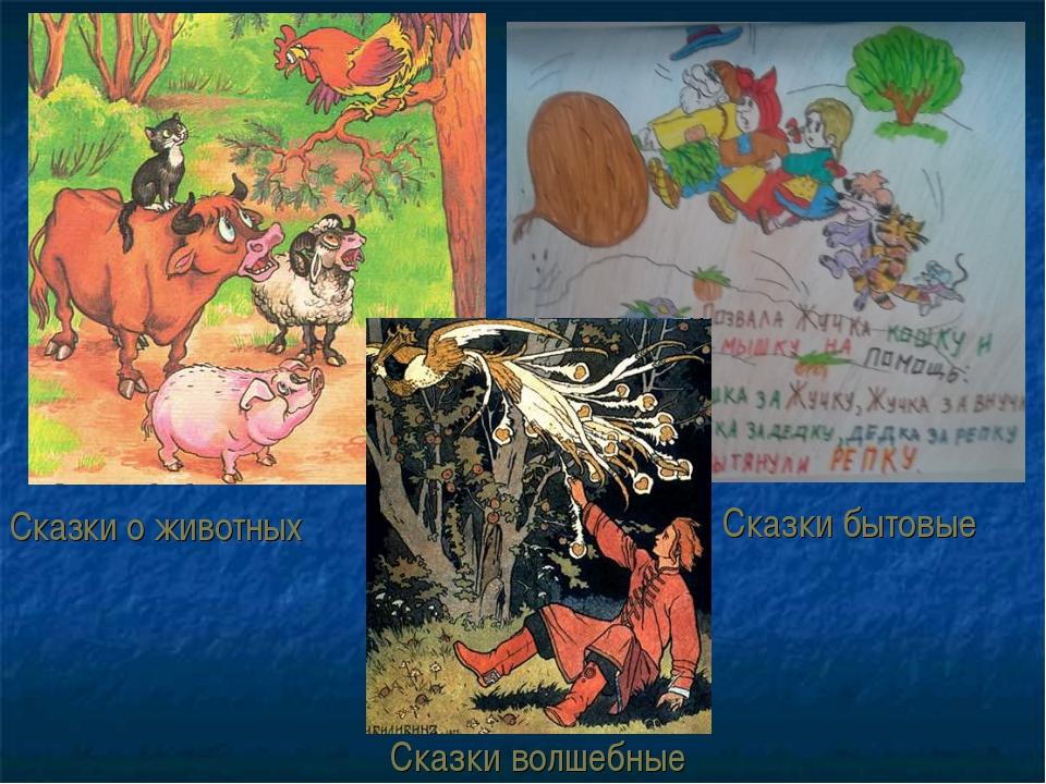 Сказки о животных Сказки волшебные Сказки бытовые
