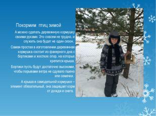 Покормим птиц зимой А можно сделать деревянную кормушку своими руками. Это со