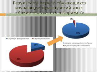 Результаты опроса обучающихся изучающие французский язык «Какие мосты есть в