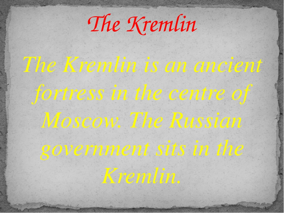 The Kremlin is an ancient fortress in the centre of Moscow. The Russian gover...