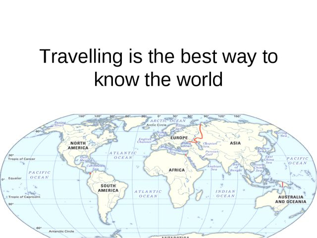 Travelling is the best way to know the world