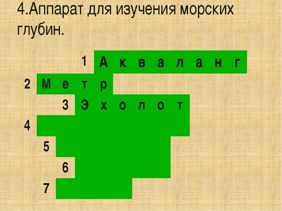 5.Прибор для определения сторон света. 1 А к в а л а н г 2 М е т р 3 Э х о л...