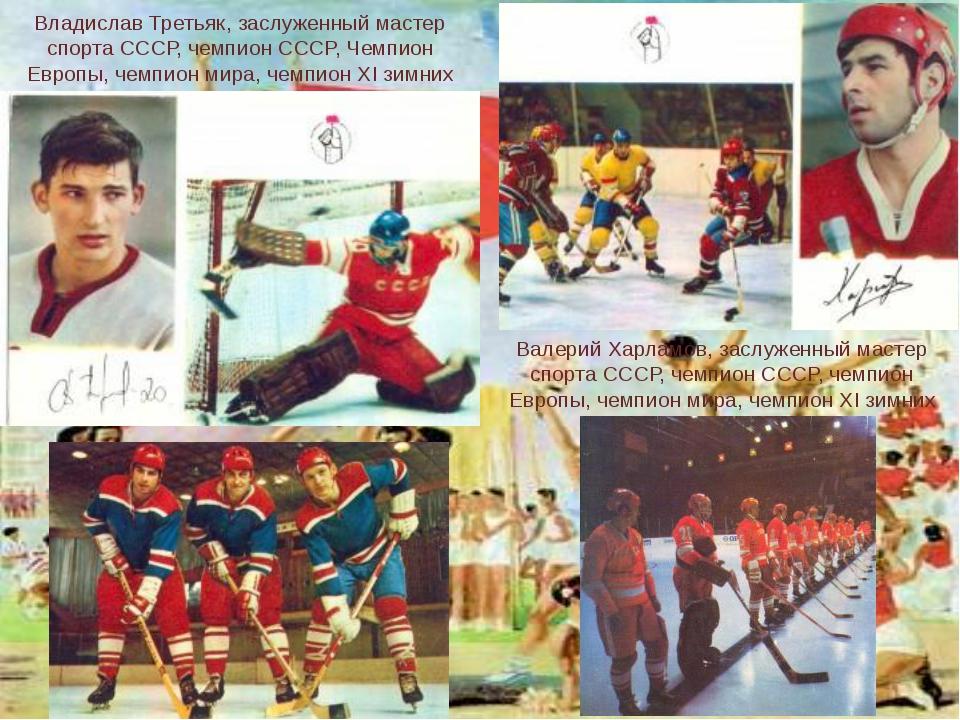 Владислав Третьяк, заслуженный мастер спорта СССР, чемпион СССР, Чемпион Евро...