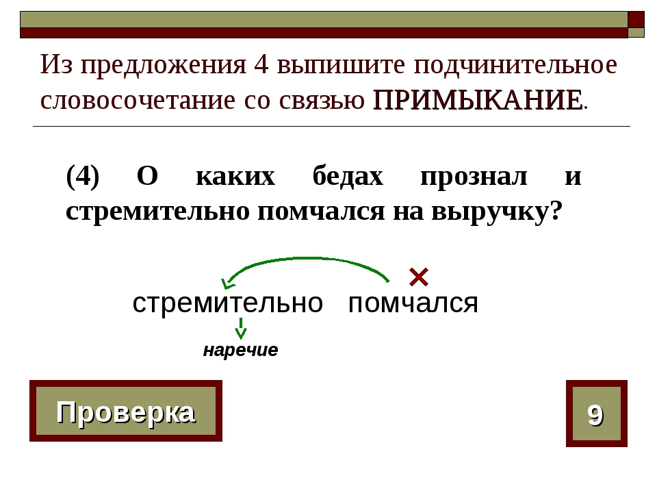 Из предложения 4 выпишите подчинительное словосочетание со связью ПРИМЫКАНИЕ....