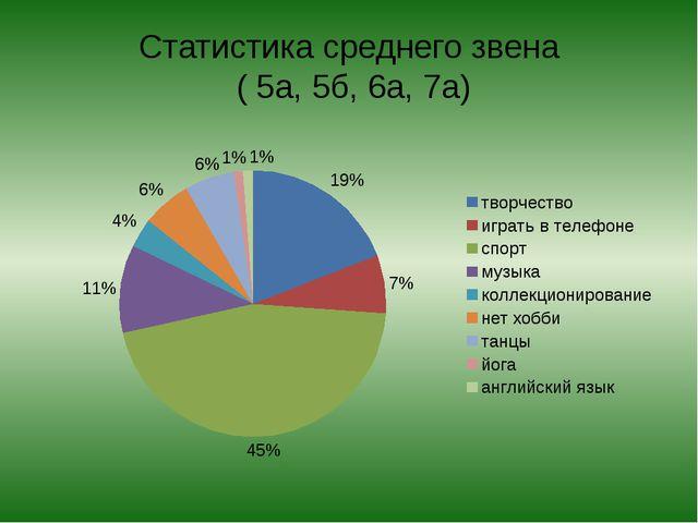 Статистика среднего звена ( 5а, 5б, 6а, 7а)
