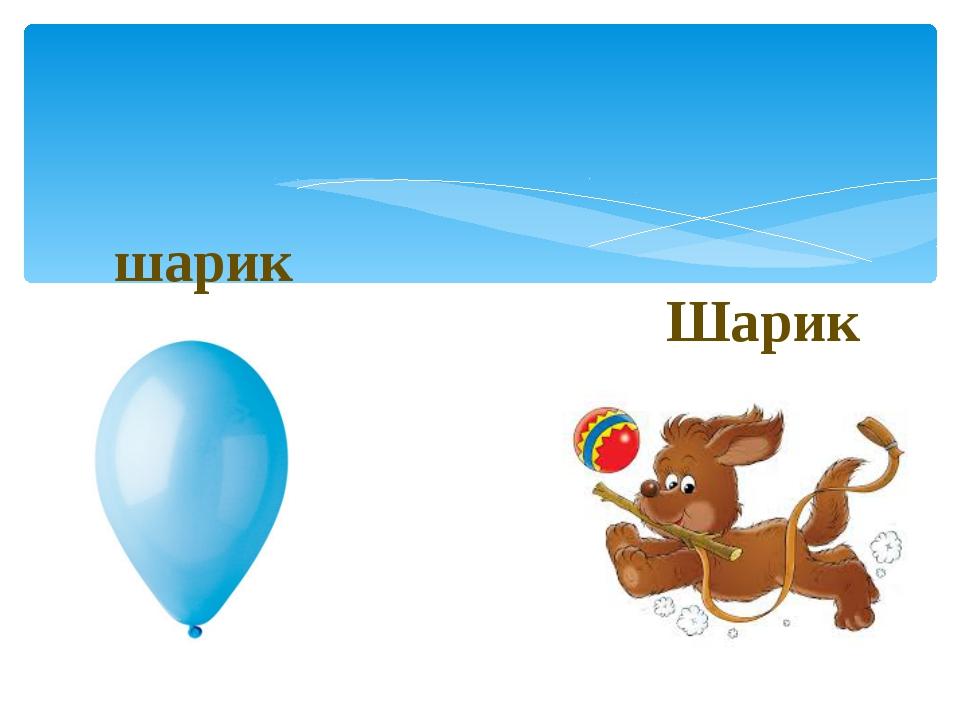 Шарик шарик