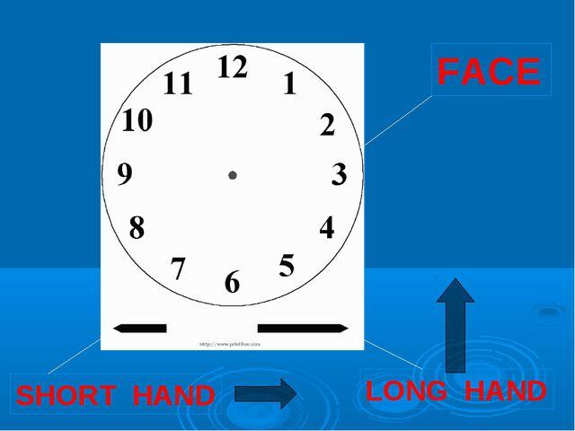 FACE SHORT HAND LONG HAND