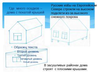 Где много осадков – дома с покатой крышей Русские избы на Европейском Севере