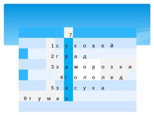 7 1 с у х о в е й 2 г р а д 3 з а м о р о з к и 4 г о л о л е д 5 з а с у х