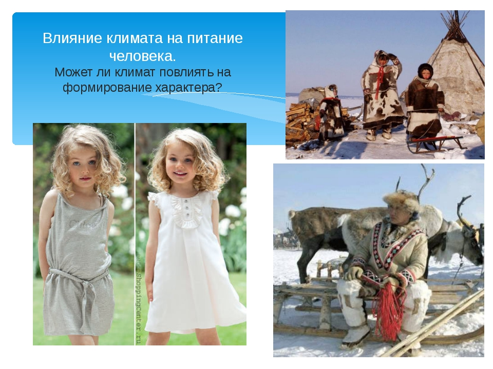 Климат и одежда человека