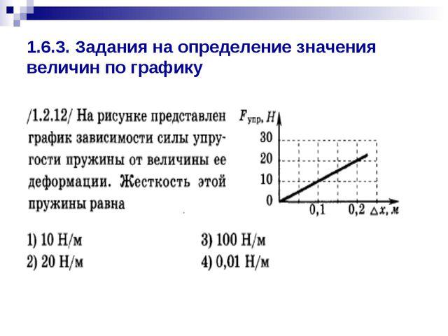 1.6.3. Задания на определение значения величин по графику