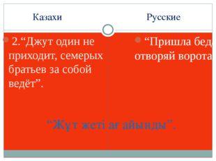 """Казахи Русские 2.""""Джут один не приходит, семерых братьев за собой ведёт"""". """"Пр"""