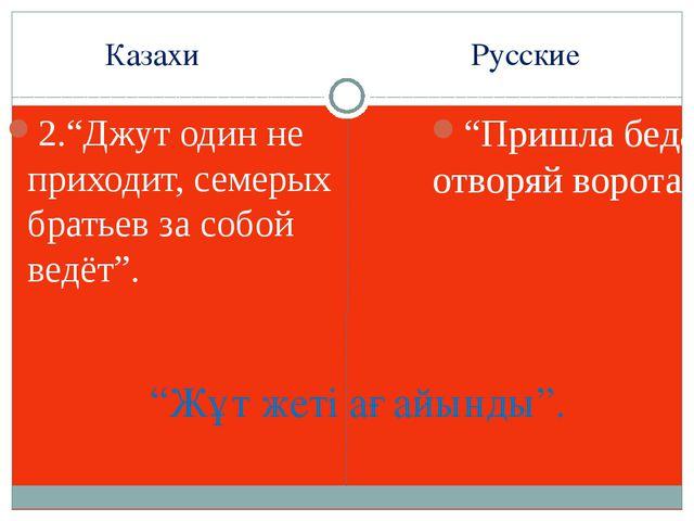 """Казахи Русские 2.""""Джут один не приходит, семерых братьев за собой ведёт"""". """"Пр..."""