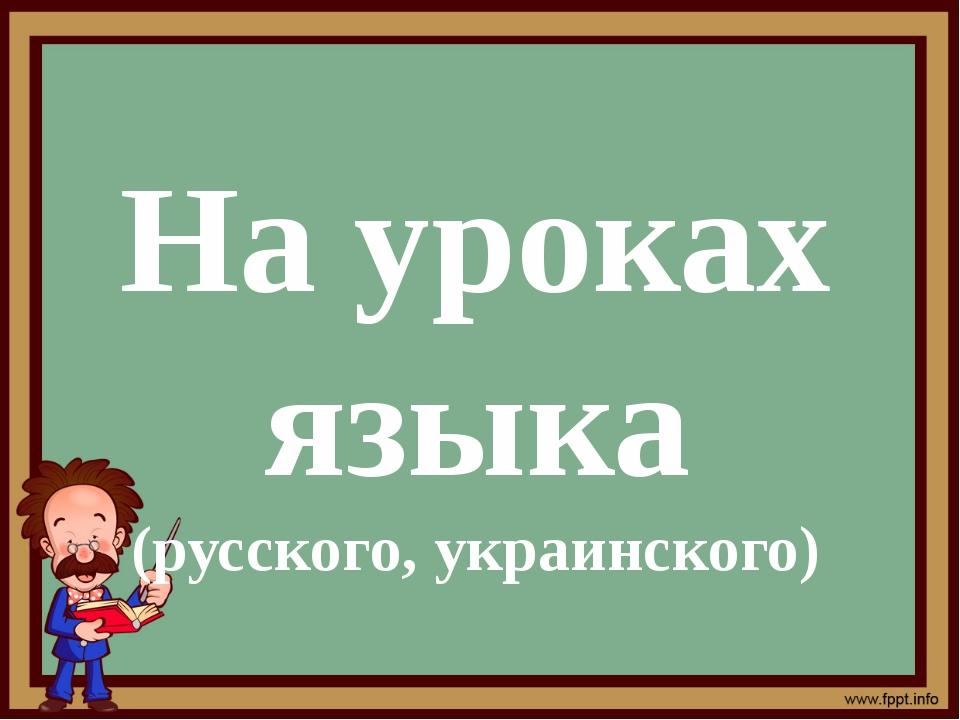 На уроках языка (русского, украинского)