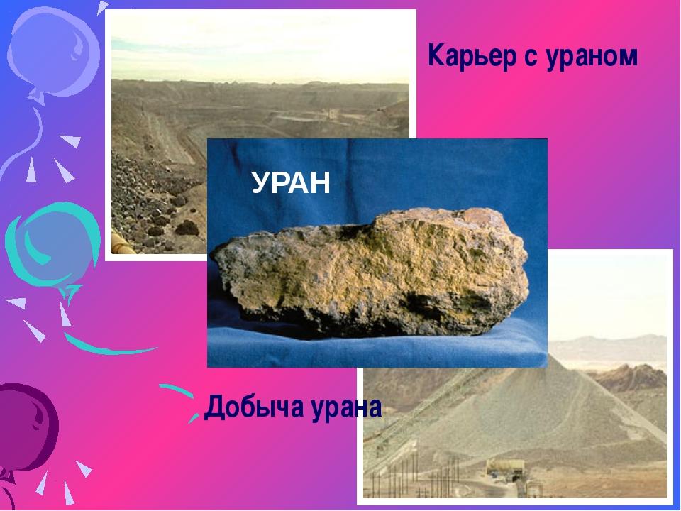 Карьер с ураном Добыча урана УРАН