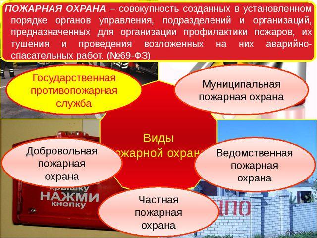 ПОЖАРНАЯ ОХРАНА – совокупность созданных в установленном порядке органов упра...