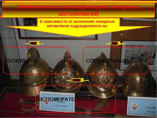 Назначение и классификация пожарных автомобилей В зависимости от назначения...