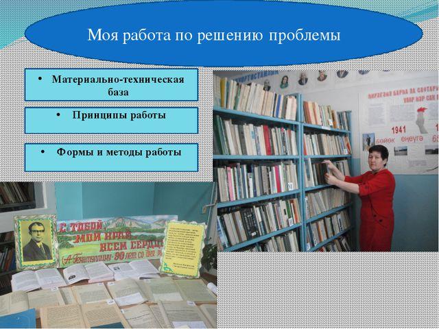 Моя работа по решению проблемы Принципы работы Формы и методы работы Материа...