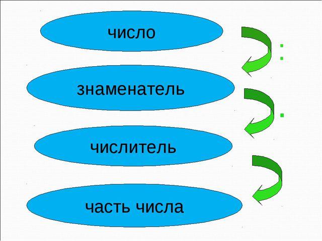 число знаменатель числитель часть числа : .