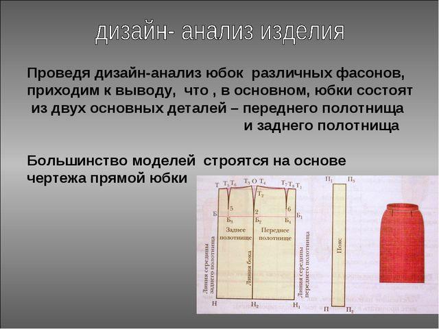 Проведя дизайн-анализ юбок различных фасонов, приходим к выводу, что , в осно...