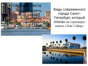 Виды современного города Санкт-Петербург, который описан на страницах книги «