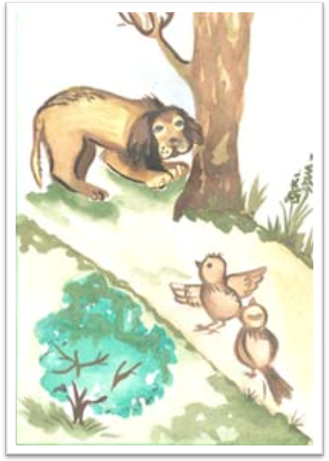 Рисунки к рассказу воробей